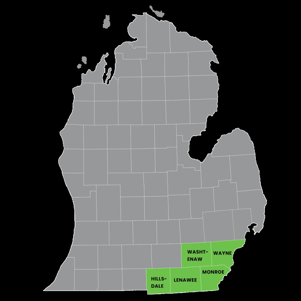 RES Michigan Service Map